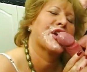 Granny Facial Porn
