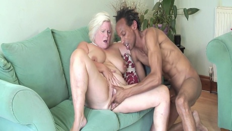 Old Bbw Landlord Cheats On Her Husband With The New Bbc Tenant